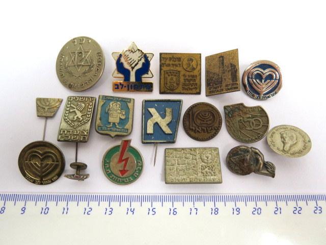 שבעה עשר סיכות וסמלים ישראל, שנות ה40-80