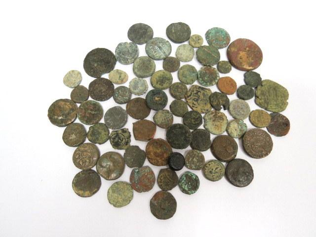 לוט של כ-62 מטבעות ברונזה ארץ ישראל, תקופות שונות
