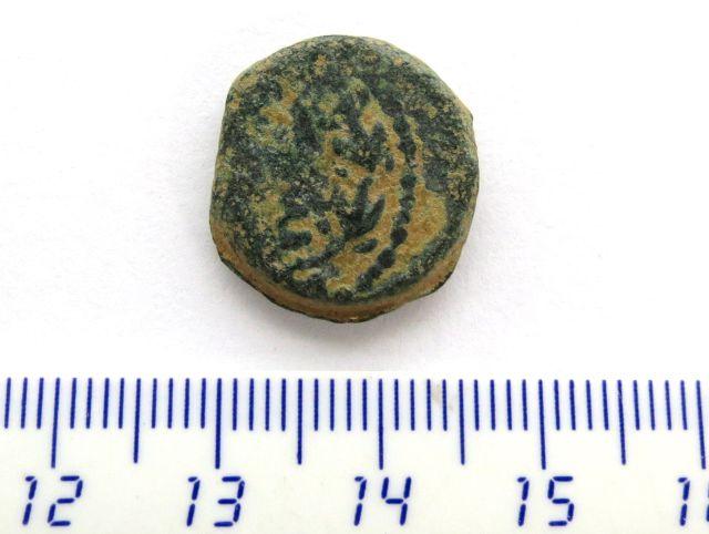 """מטבע ברונזה, שלטון מתיתיהו אנטיגונוס, קוטר 17 מ""""מ, 40-37 לפנה""""ס, מצב Fine"""