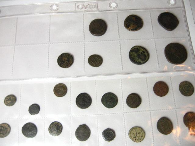לוט של 36 מטבעות ארד תקופת בית שני ונציבים רומים
