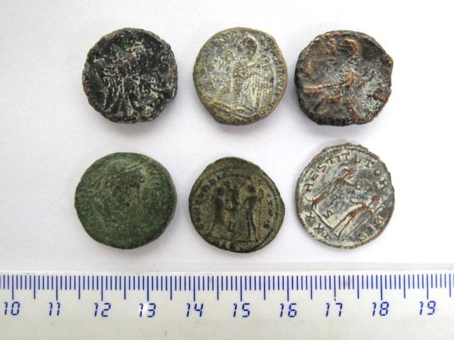 שש מטבעות ברונזה רומיות ערים הלניסטיות