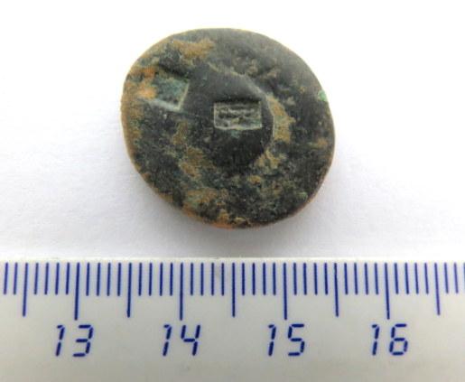 מטבע ברונזה רומי עם הטבעת על, הלגיון העשירי