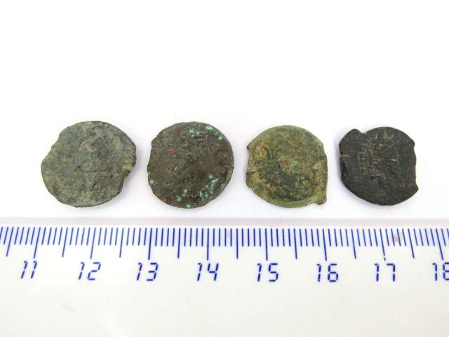 ארבע מטבעות ברונזה, פרוטות תקופת המרד הראשון, 67-68 לספירה