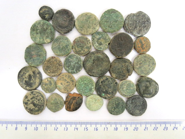 לוט 30 מטבעות ברונזה, ערים רומיות ארץ ישראל, סוריה ומצרים