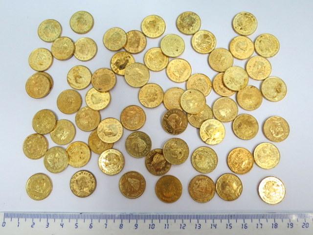 63 מטבעות 5 סנטבו, מכסיקו, מצבים שונים