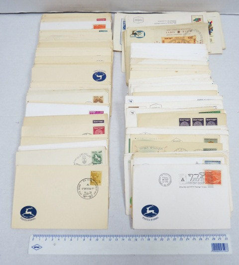 לוט של כ-200 מעטפות ביול פילטלי, ישראל, חותמות מיוחדות