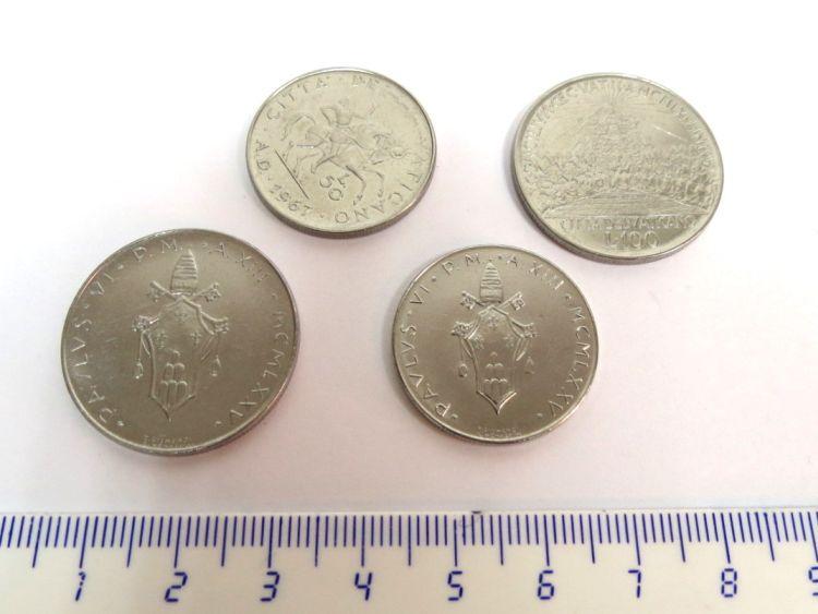 ארבעה מטבעות, הותיקן