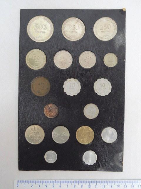 """סט מטבעות ישראל, כולל 250 ו 500 פרוטה כסף, תש""""ט 1949"""