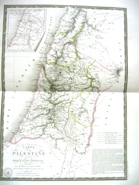 Carte de la Palestine sous la Domination Romaine.. Paris 1828 (Laor  134)