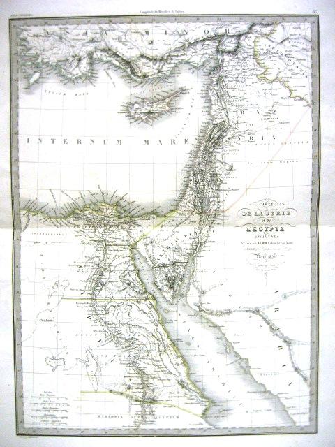 מפה Carte de la Syrie et de L'Egypte Anciennes, Paris, 1833 from Atlas Universel