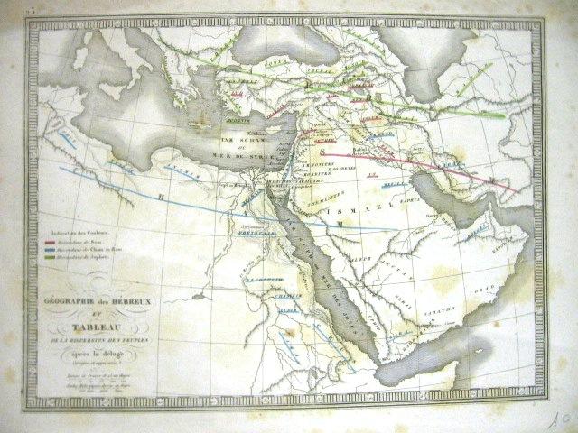 Georgraphie des Hebreux et Tableau de la despension des peuples…