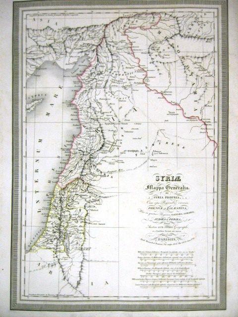 מפה Syrie, Mappa Generalis Ubi Syria Propria, Paris, 1826