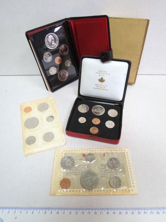 ארבעה סטים מטבעות Proof קנדה: 1972, 1976, 1983, 1984