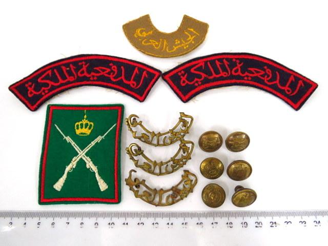 לוט תגיות, סמלים וכפתורים, צבאות ערב: ירדן, מצרים וכו'