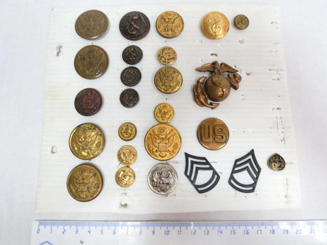 """25 כפתורים וסמלים, צבא ארה""""ב"""