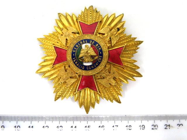 אות צבא General de Div. Ignacio Comuniort, Cuerpo de Defensores dela Republica, Servisios Distinguiros desde 1836