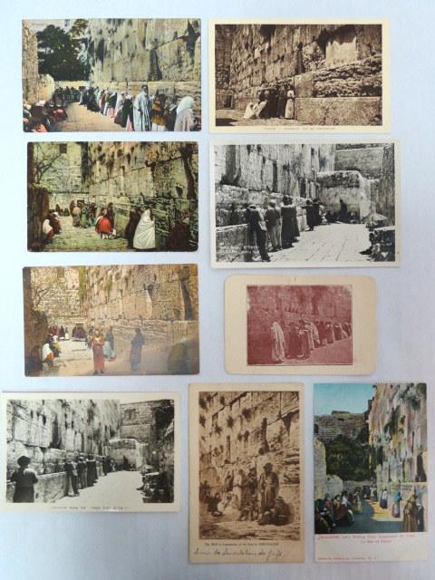 תשע גלויות, מראות הכותל המערבי תחילת המאה ה20