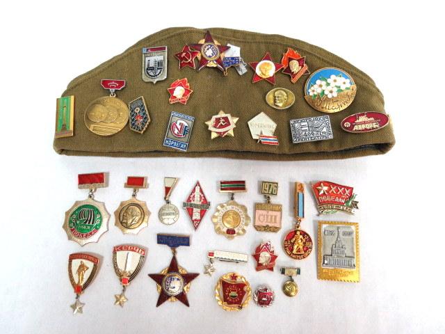 לוט סמלים וסיכות צבא רוסיה הסובייטית ועוד