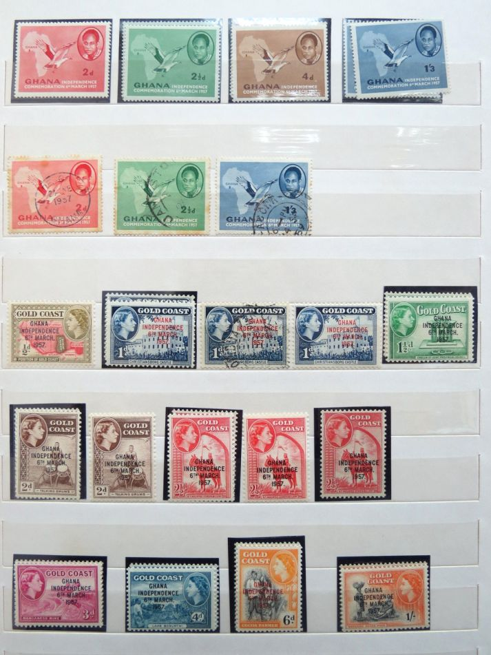 Ghana stamps collection 1957 to 1965, mostly MNH, incl. duplicates