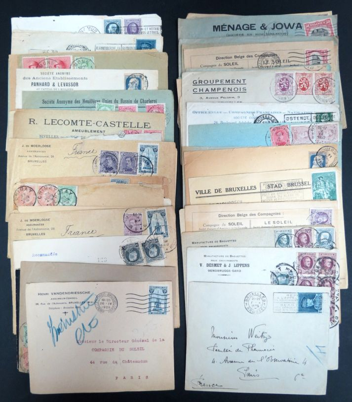 Belgium collection of 52 postcards and covers