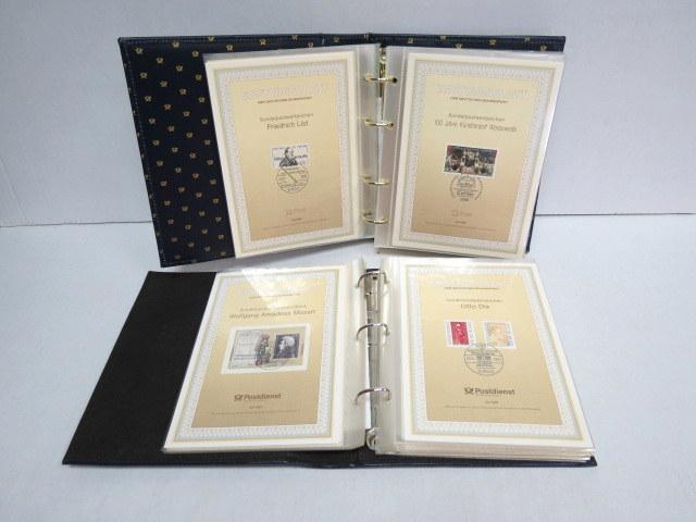 שני אלבומי דפיות, גרמניה המערבית יום הופעת הבול Ersttagblatt der Deutschen Bundespost- Sonderwenthzeichen 1/1989-30/91, 31/91-46/92