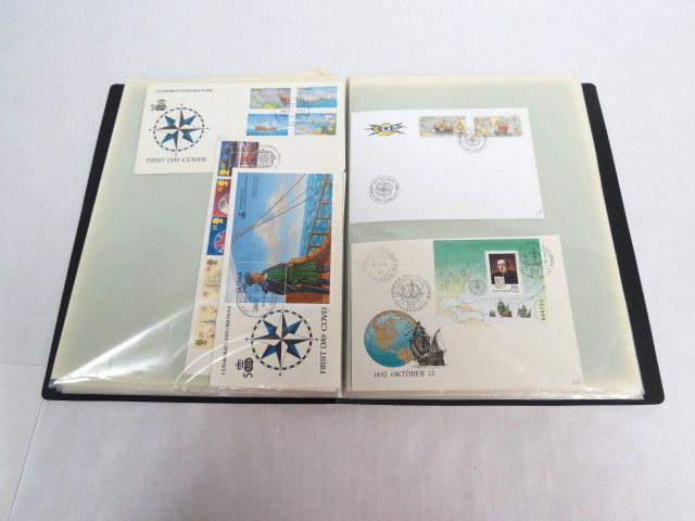 אלבום עם 145 מעטפות יום הופעת הבול, ארצות שונות, בעניין כריסטופר קולומבוס וגילוי אמריקה