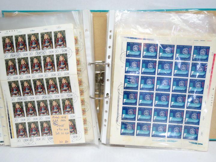 אוסף של מאות גליונות Germany DDR CTO (מזרח גרמניה), הרבה כפולים, מצב VF, מעט חלודה על חלק מהם