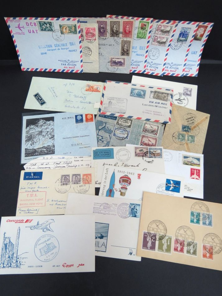 collection of 22 FFC, First Flight Covers incl. better items