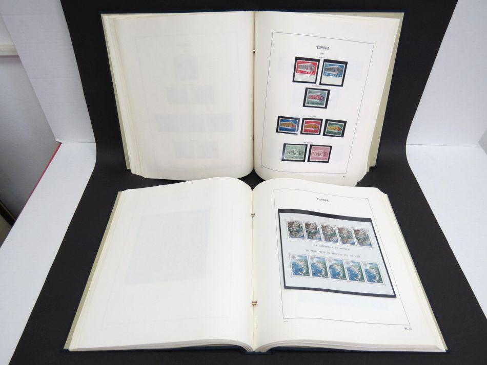 אוסף בולי אירופה 1956-1984 שלם בשני אלבומי דאבו, ערך נקוב גבוה