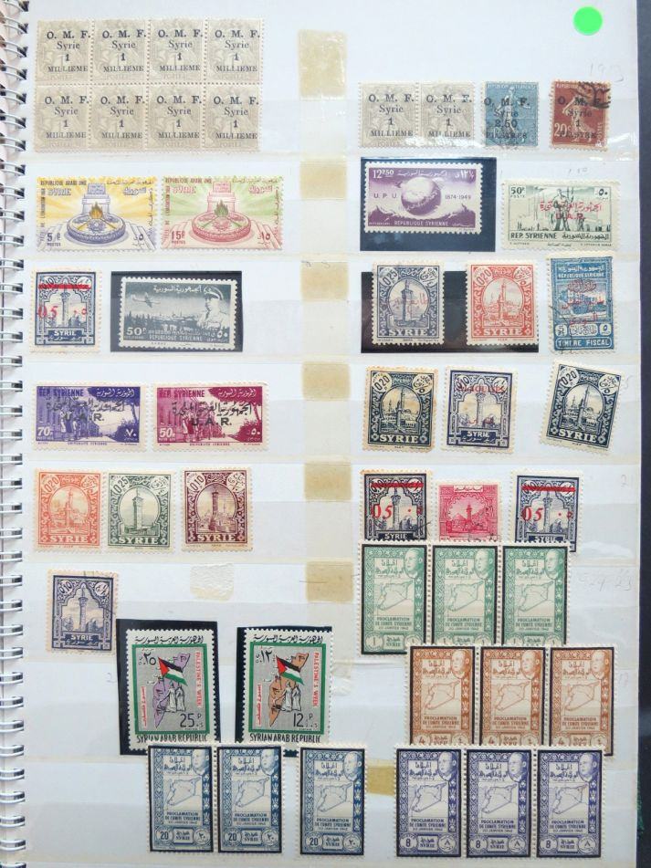 לוט קטן, ארצות ערב Palestine, Jordan, Egypt, Syria stamps collection, mixed condition