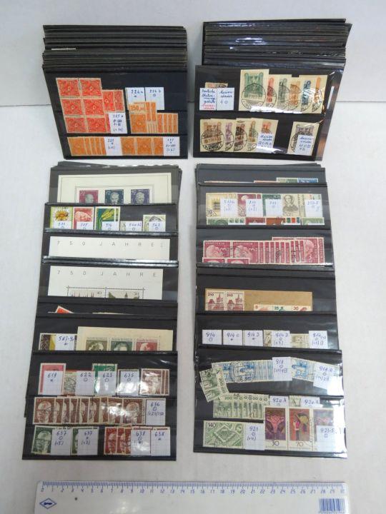 אוסף גרמניה חלקי בכ-120 כרטיסי בולים סוף המאה ה19 עד שנות ה-80 של המאה ה-20,  כולל: Deutsches Reich, Saar, מערב ומזרח גרמניה, עם סימון Michel