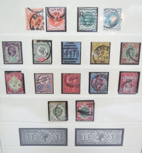 אוסף בולי מדינות שונות: אנגליה מ-1840, מעט דנמרק, לוקסנבורג וצרפת, בעיקר חתומים