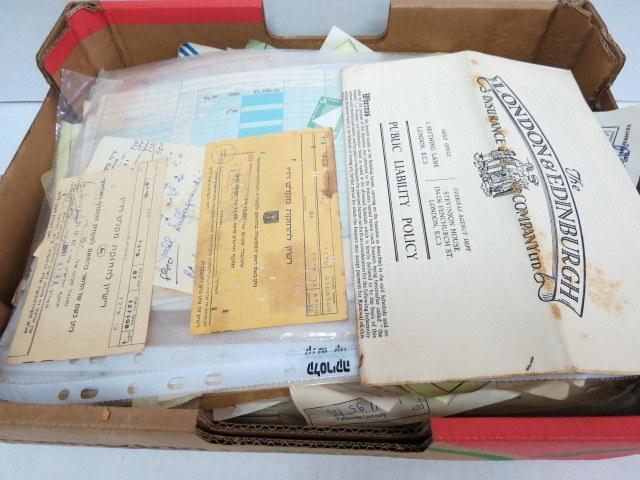 ארגז עם מסמכים מבוילים ישראל, שנות ה40-80