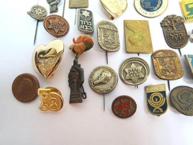 לוט סיכות-סמלים, ישראל, שנות ה40 עד שנות ה70