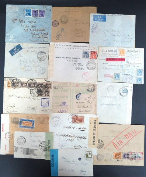 Middle East and Levant WWII CENSOR covers to Palestine, incl. JEWISH BRIGADES, total 14 items