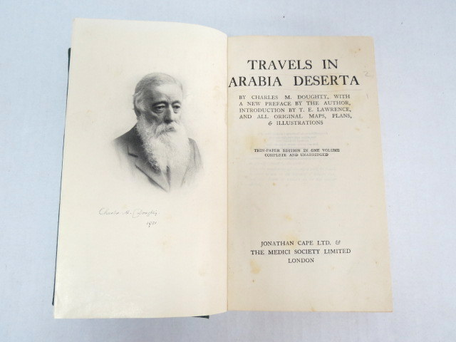 Travels in Arabia Deserta incl maps, London, 1926