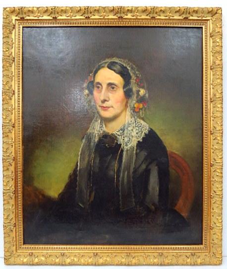 שמן על בד, דיוקן העלמה מריה מונדי, אנגליה, מתוארך 1867, 76X63