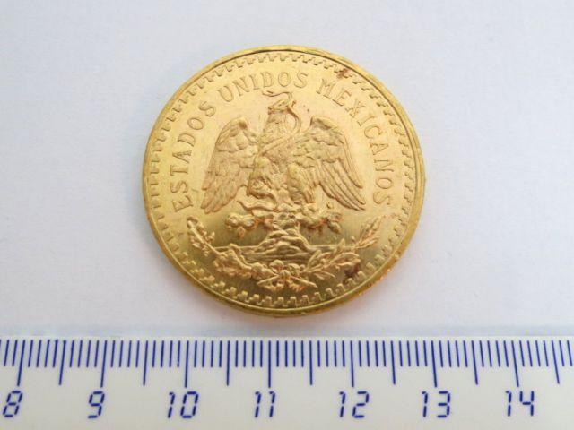 """מטבע זהב ע""""ס 50 פזו מכסיקו, 1945, ( 37.5 זהב טהור)"""