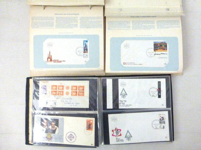 שלושה אלבומים: שנים עם-70 מעטפות ישראל 1979-1974, כל מעטפה על גליון עם תיאור מיוחד בעניין הבול, ואלבום עם 16 מעטפות Oversize, first flight etc