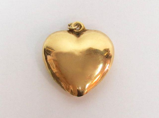תליון זהב 14K, צורת לב 3.4 גרם