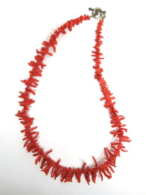 מחרוזת קורלים אדומים טבעיים