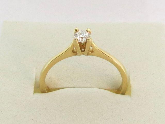 טבעת זהב 14K, משובצת ביהלום כ-20 נק'