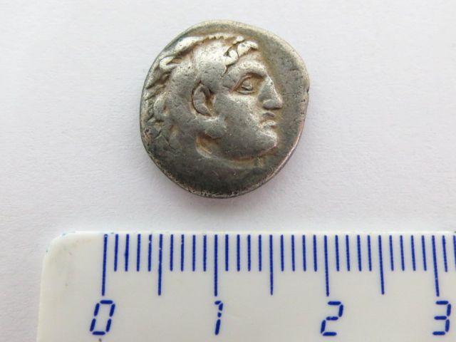 """מטבע כסף ע""""ס דרכמה, מקדוניה, שלטון אלכסנדר הגדול, מצב Fine"""
