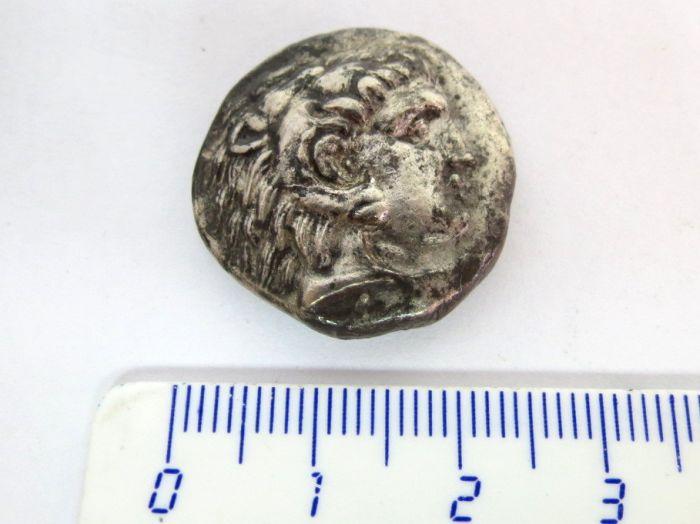 """מטבע כסף ע""""ס טטרדרכמה שלטון אלכסנדר הIII (הגדול), מקדוניה"""