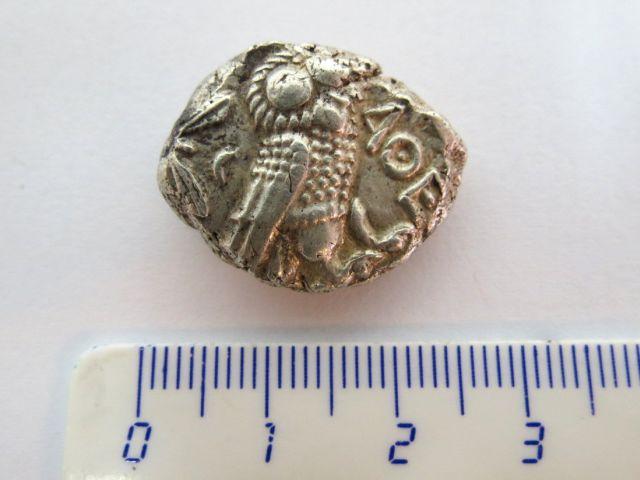 """מטבע כסף ע""""ס טטרדרכמה אזור אתיקה, אתונה, מאות 3-2 לפנה""""ס"""