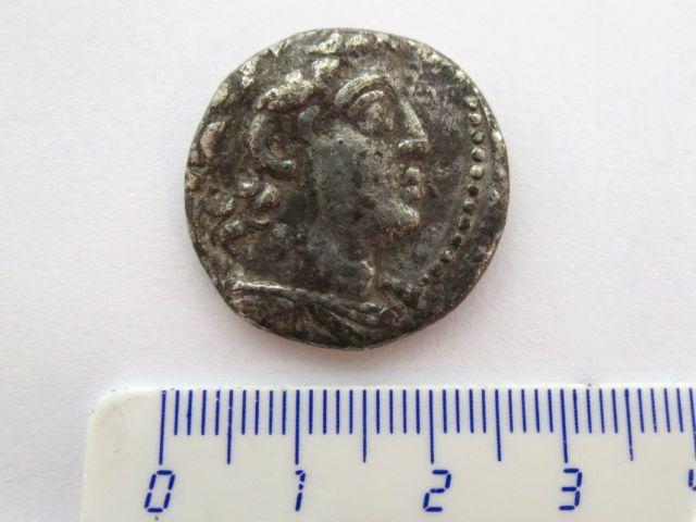 מטבע כסף טטרדרכמה שלטון דמיטריוס ה-II, השושלת הסלווקית, 129-125 לפני הספירה, מצב Fine