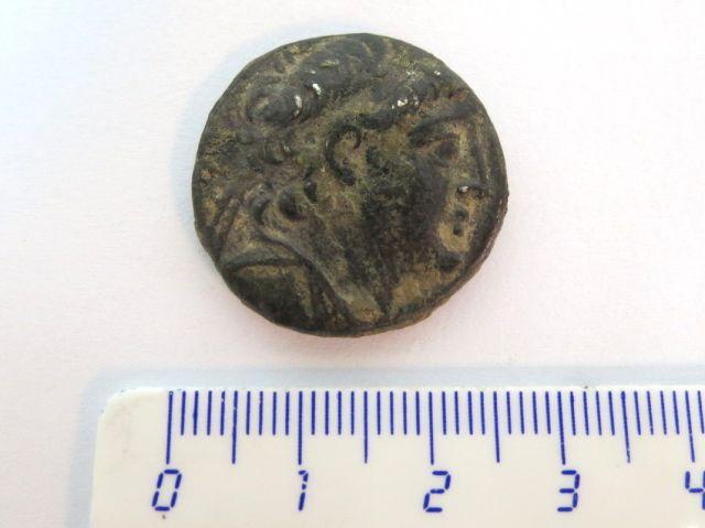 """מטבע כסף טטרדרכמה שלטון אנטיוכוס ה-7, מטבעת צור, מאות 138-129 לפנה""""ס, השושלת הסלווקית, מצב VF"""