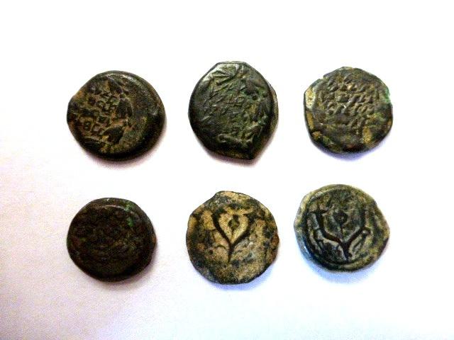 שש מטבעות ברונזה, בית חשמונאי, אלכסנדר ינאי ואחרים