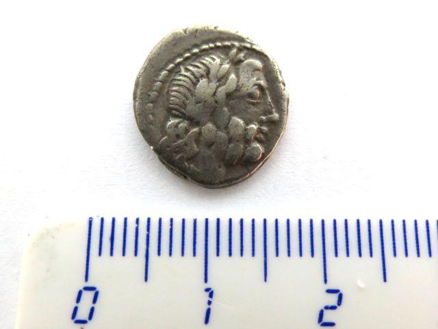 """מטבע קינריוס Cinarius כסף, הרפובליקה הרומית מטביע: Cornelia שנת 88 לפנה""""ס"""