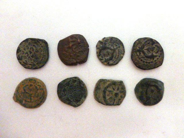שמונה מטבעות ברונזה, פרוטות חשמונאיות, מצבים Fine-VF